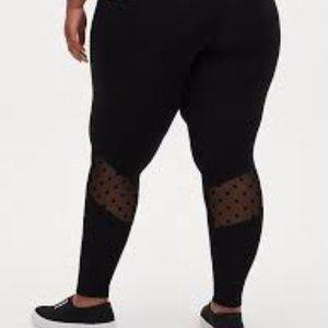 Torrid Mesh Dot Premium Leggings Plus sz 1 NWT